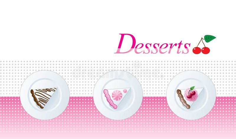 Dessert Menu Template Stock Photo - Image: 6727550