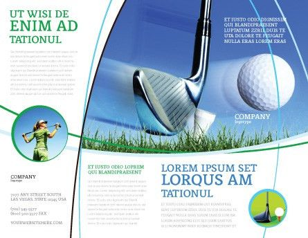 Slight Bump In Golf Brochure Template Design and Layout, Download ...