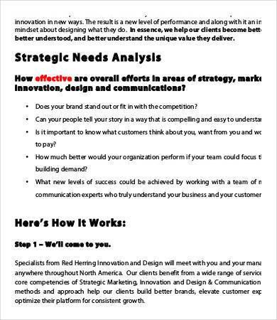 Sample Needs Analysis Templates - 9+ Free Sample, Example, Format ...
