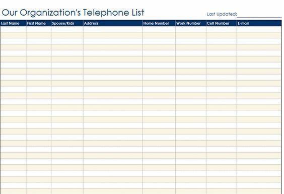 Staff List Template. staff contact list template microsoft office ...
