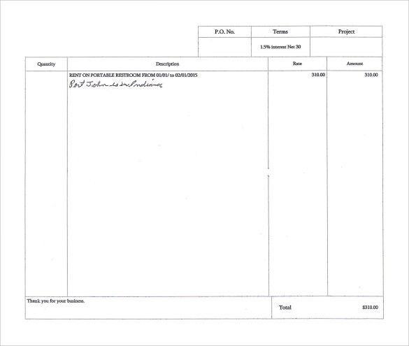 Download Sample Rent Invoice | rabitah.net