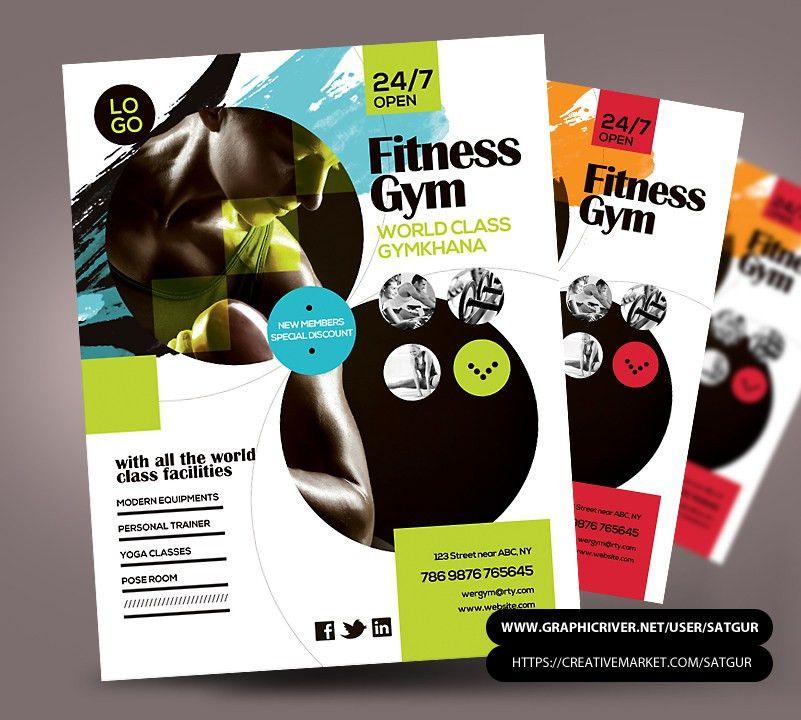Fitness Flyer / Gym Flyer PSD Template by satgur on DeviantArt