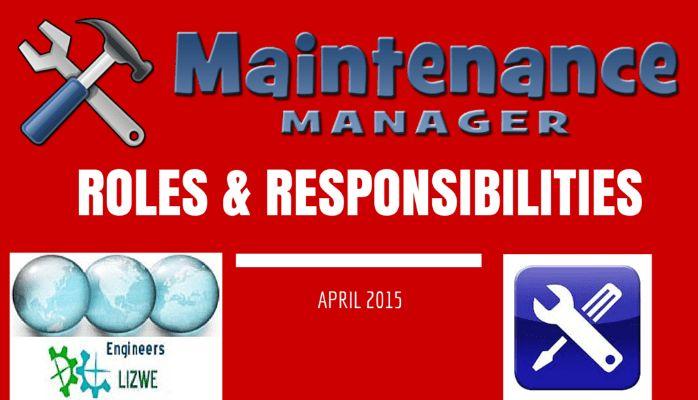 Roles & Responsibilities of a Maintenance Engineer | Ntozelizwe ...