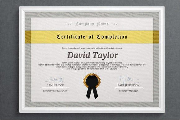 7+ Free Certificate of Completion Templates - Word Excel PDF Templates