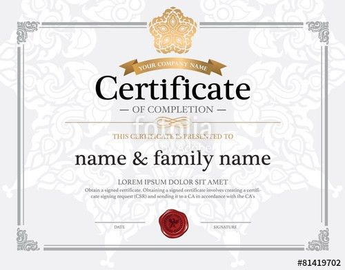 "certificate design template."" Stock image and royalty-free vector ..."