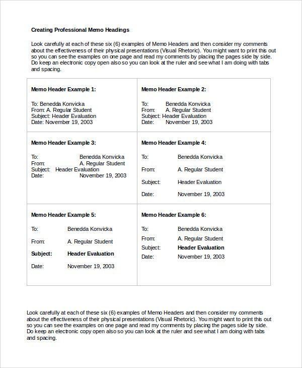 Memo Sample in Word - 10+ Examples in PDF, Word