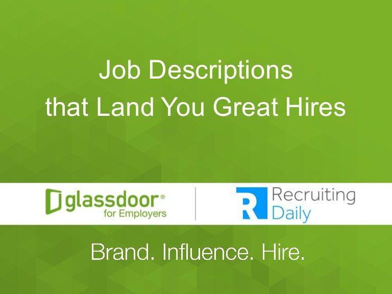 Job Descriptions That Land You Great Hires