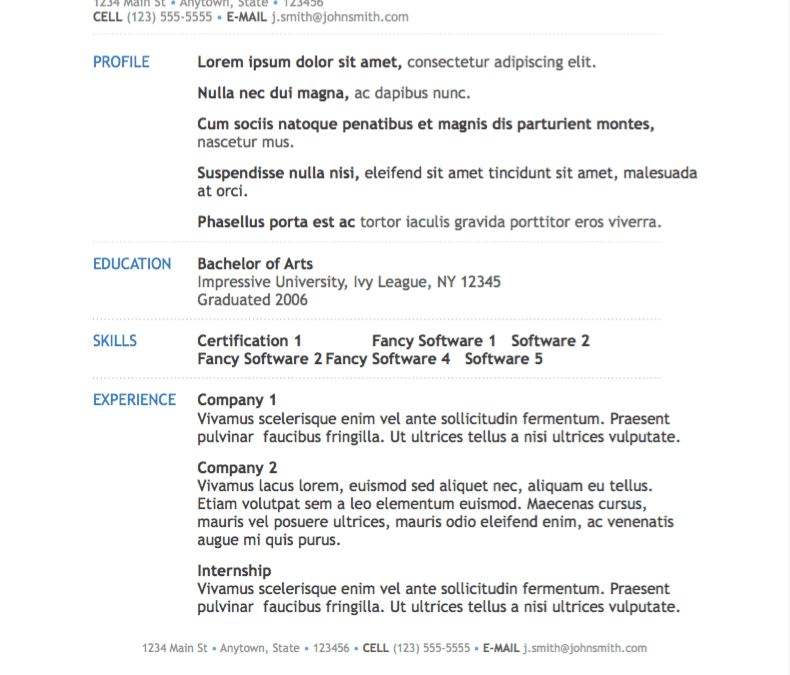 Download Resume Template Pages | haadyaooverbayresort.com
