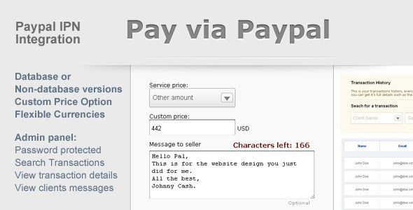 Paypal Payment Form with Admin Panel by borni | CodeCanyon