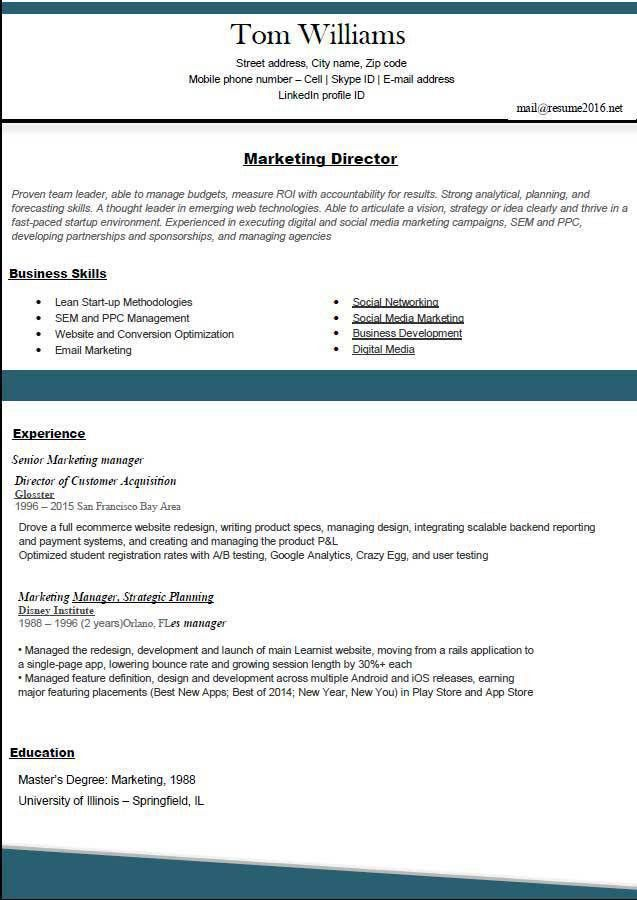 New Resume Format Sample. New Format For Resume New Resume Format ...