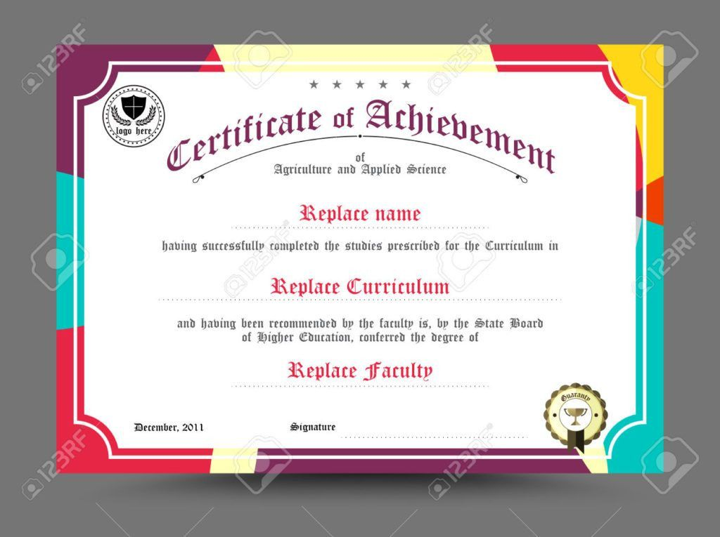 Home Design: Diploma Certificate Template Design Vector ...