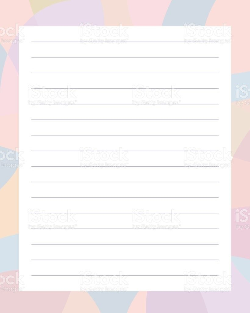 Sheet Of Grey Color Lined Paper Clip Art, Vector Images ...