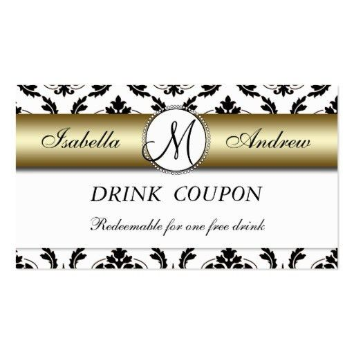 Drink coupon Business Card Templates | BizCardStudio