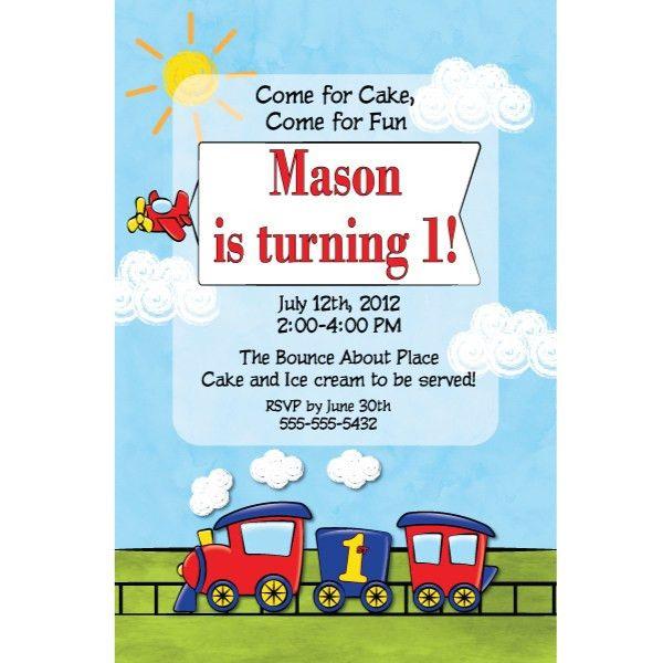 Train Themed Birthday Party Invitations - vertabox.Com