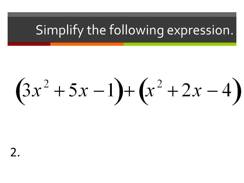 Adding and Subtracting Polynomials. What is a monomial? Give an ...