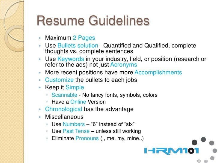 Resume Formatting Guidelines Resume Aesthetics Font Margins And