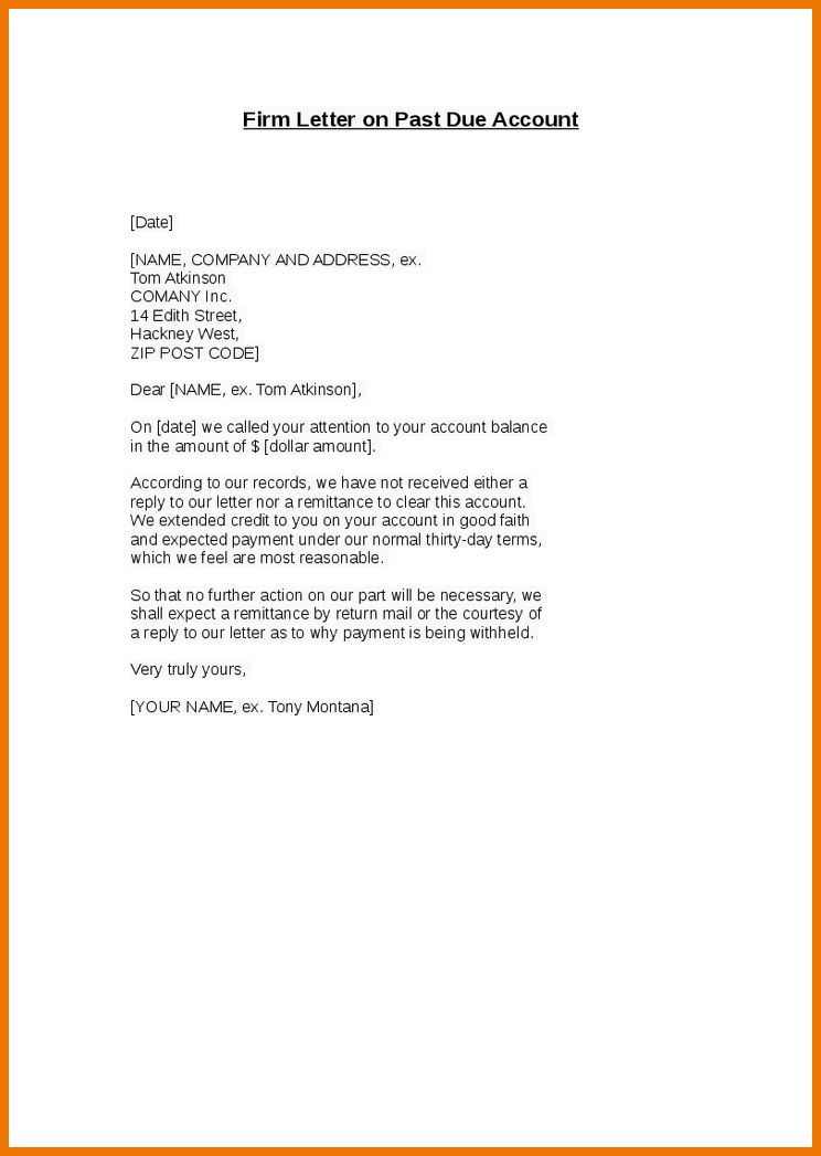 5+ past due letter template | assistant cover letter