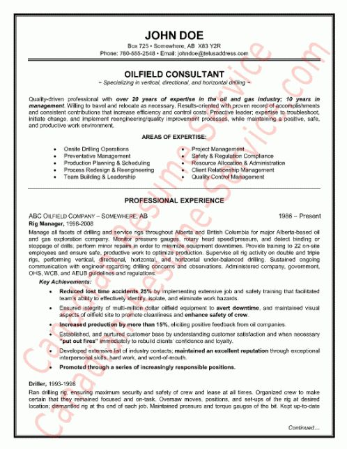 oilfield consultant resume field consultant resume example click