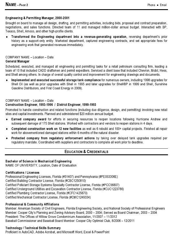 Download Premier Field Engineer Sample Resume ...