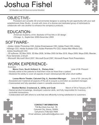 3d Artist Resume Objective. 210 best sample resumes images on ...