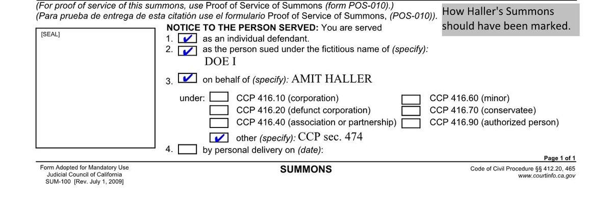 Summary – Carol Gilbert, Inc. v. Haller – Process Server Institute