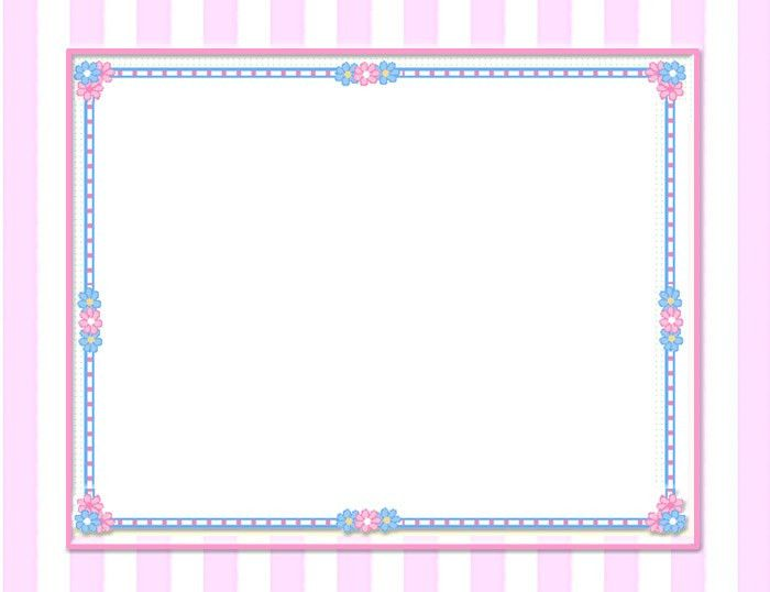 pink floral borders | Create Certificates for free, online free ...