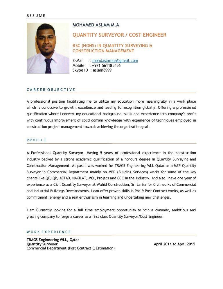 MOHAMED ASLAM CV