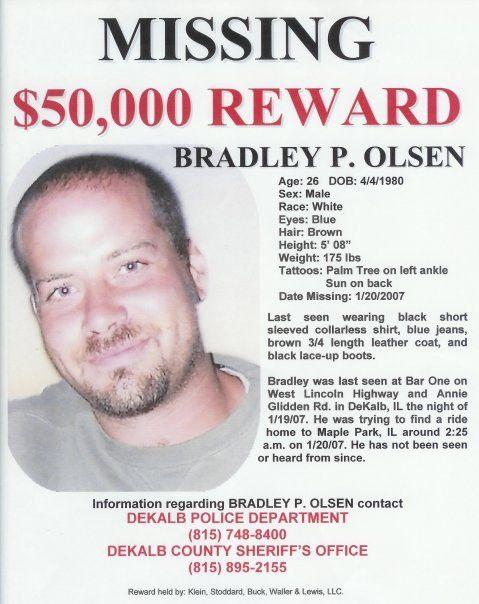 CrimePAY$ - $50,000 Missing Person Reward - Bradley Olsen ...
