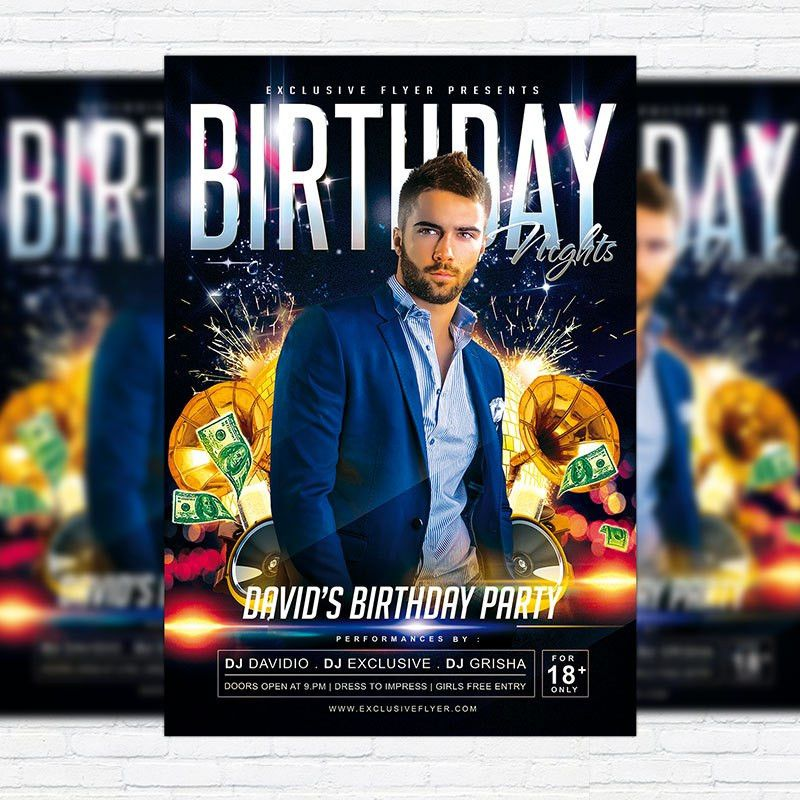 Birthday Nights – Premium PSD Flyer Template | ExclsiveFlyer ...