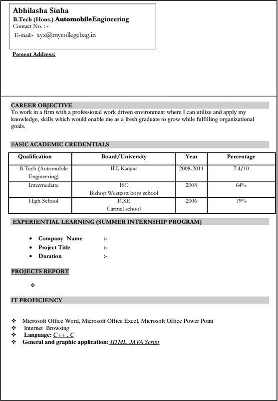10+ Automobile Resume Templates - Free PDF, Word , Samples