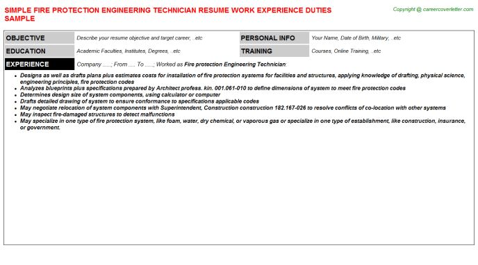Download Certified Fire Protection Engineer Sample Resume ...
