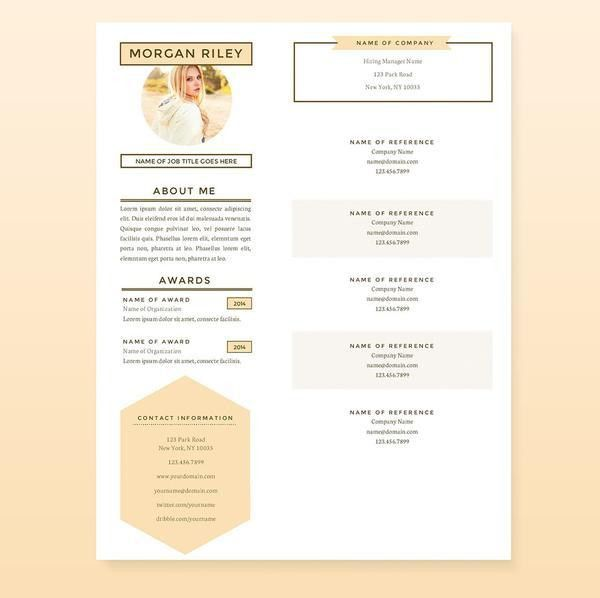 Pretty Sunrise Resume, Cover Letter & References Template Package ...