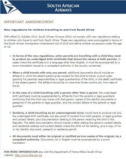 Post - South African Airways UK & Ireland Travel Trade