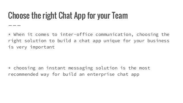 Enterprise chat app for team communication