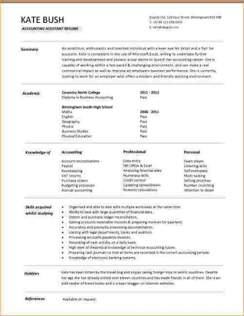 Accountant resume in word format - Business Proposal Templated ...