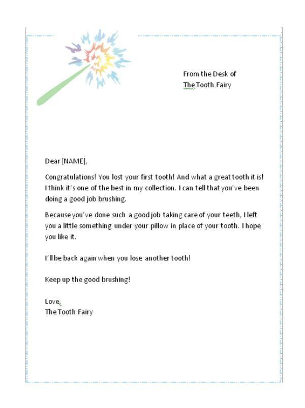 tooth fairy letter images amp pictures becuo. tooth fairy letter ...