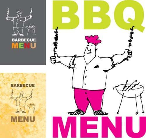 Chef with menu cover Templates vector graphic 05 - Vector Cover ...
