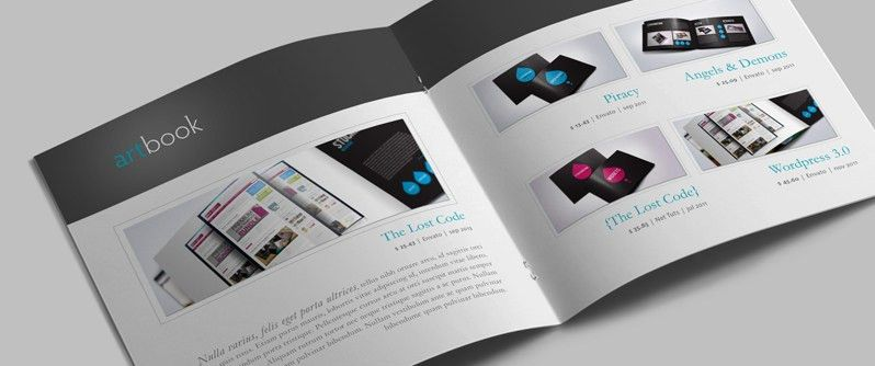 InDesign Catalog Template: ArtBook | Ideas for Work Stuff ...