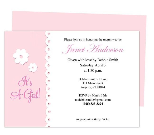 42 best Baby Shower Invitation Templates images on Pinterest | Diy ...
