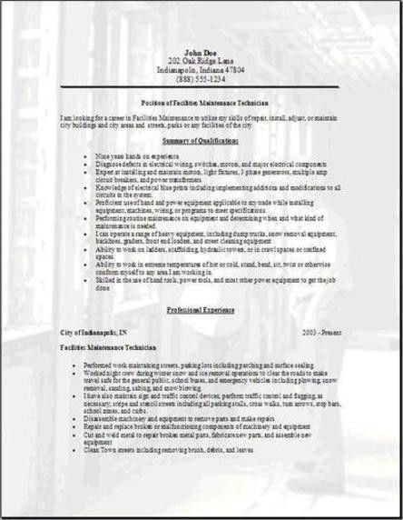 Facilities Resume, Occupational:examples, samples Free edit with word