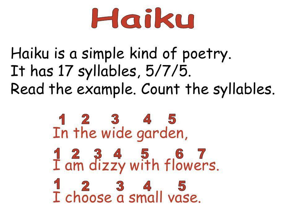 Haiku Example] Teaching Haiku Poem, Teaching Haiku Poem, Best 25 ...