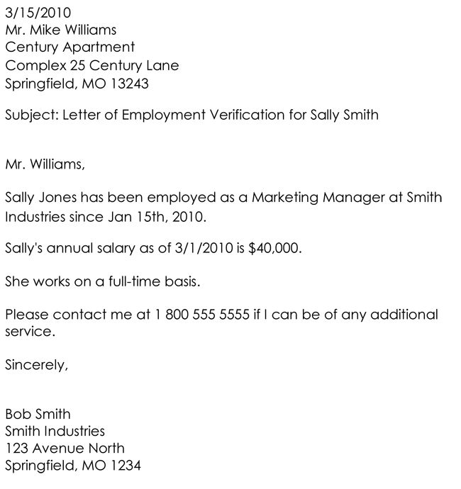 Employment Verification Letter - 8+ Samples to Choose From