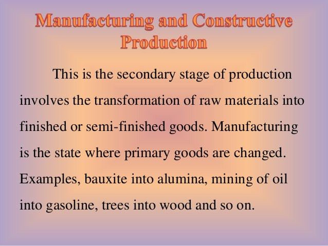The Nature of Production