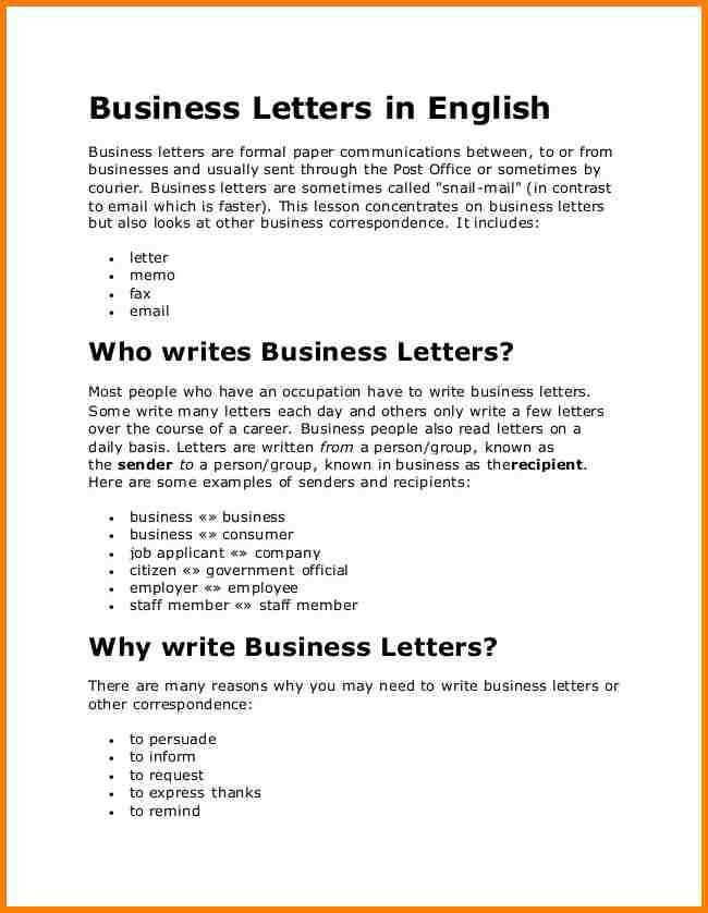 7+ business letter english | attorney letterheads