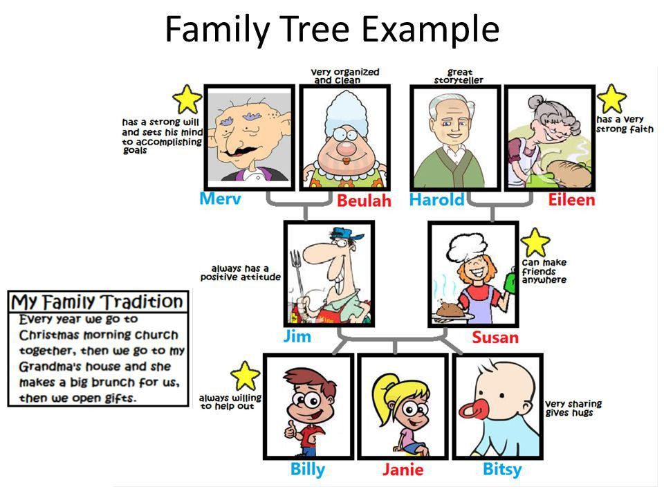 MY FAMILY TREE Ch. 11. Family Tree Directions 1.Draw a picture of ...