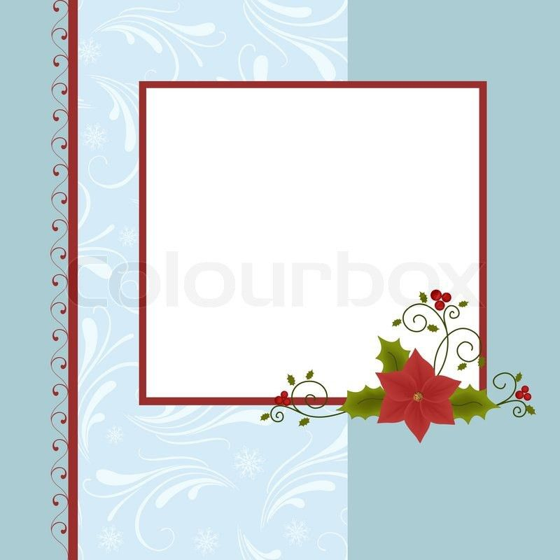 Blank template for Christmas greetings card, postcard or photo ...