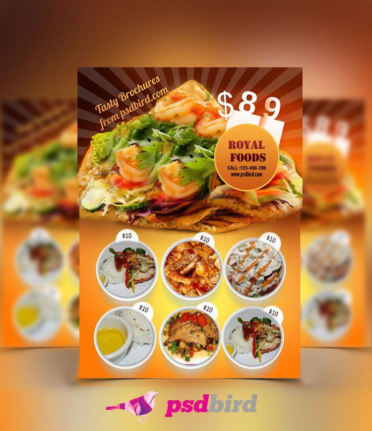 Free Download this Restaurant - Hotel Menu Card http://www.psdbird ...