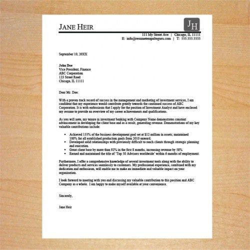 Cover Letter Templates | Resume Template Guru