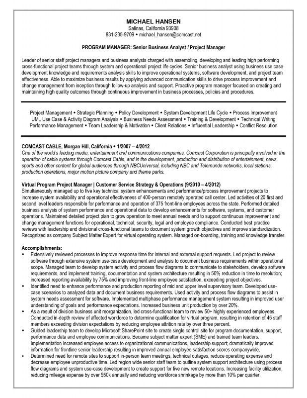 entry level business analyst resume sample entry level business ...