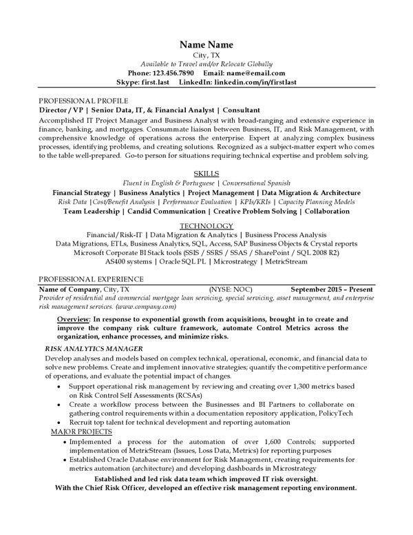 Resume Examples | Professional Progressions